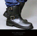 レインエンシ ゛ ニアフ ゛ ーツ ◆ black boots engineer rain boots waterproofing men boots