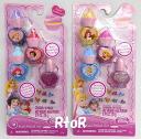 Disney Princess Nail Polish Set nail 4 + with 10 nail stickers