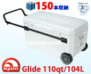 Igloo (イグロー) with the large-sized air conditioner box Glide 110qt/104L wheel with the IGLOO 110qt wheel