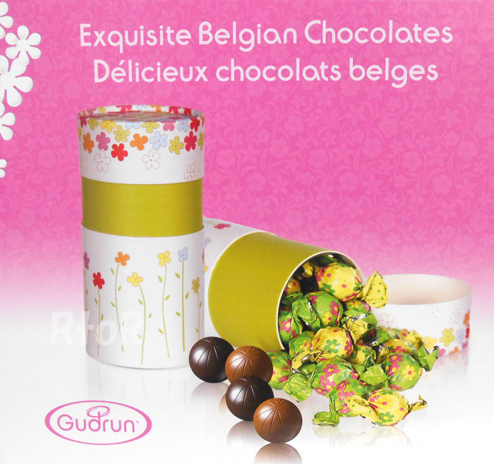 What are some types of Gudrun chocolate?