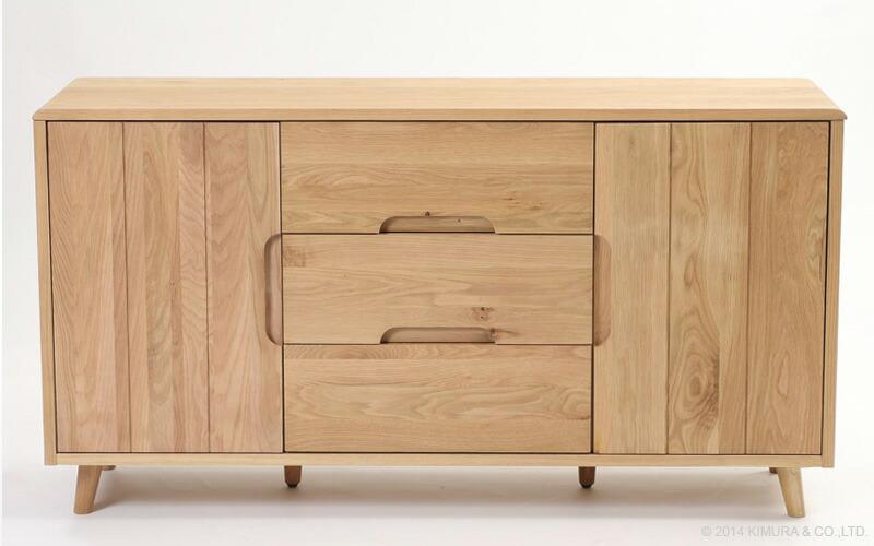 Landmark rakuten global market zago dream oak solid for Sideboard 140