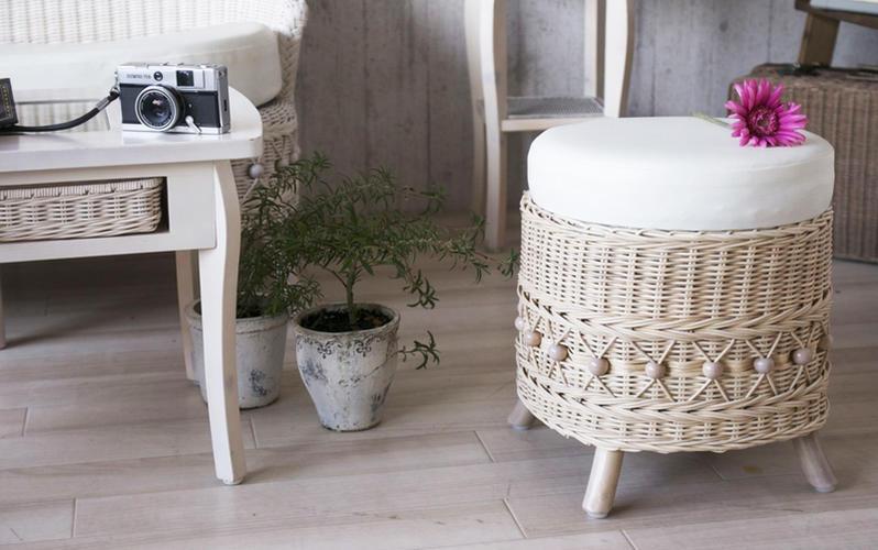 サンフラワーラタン キムララタン fiore フィオーレ ラタン製 スツール 籐製 腰掛け椅子(C810WW)