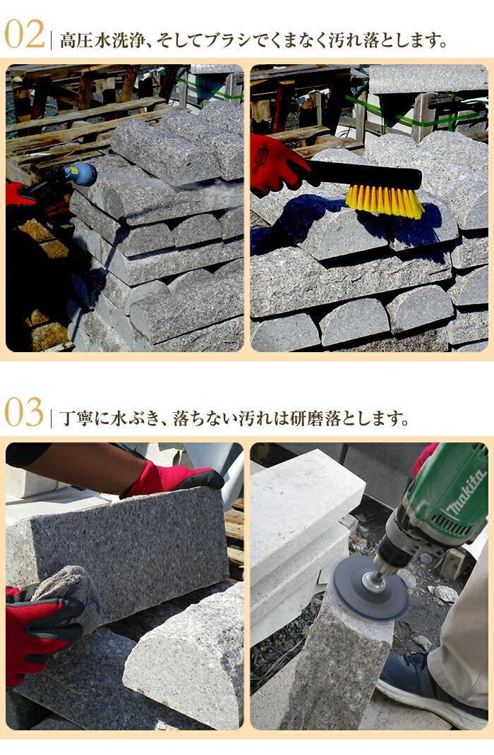 お客様のお手元に届くまでのりょう石の品質管理