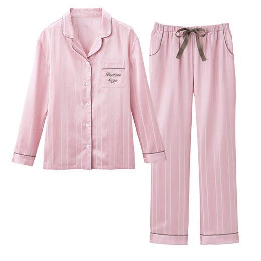 サテンシャツパジャマ