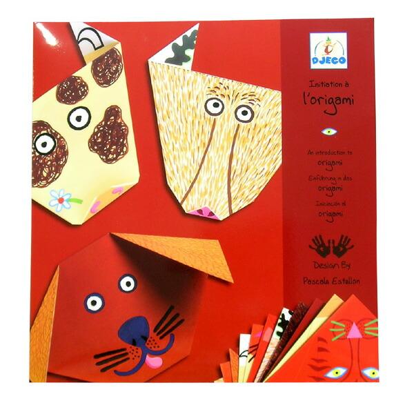 折叠一张折纸动物的脸.你最终会有六种类型的动物从预先设计的插图.