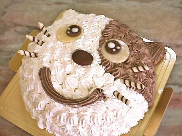 にゃんこ顔ケーキ