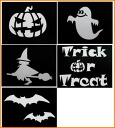 Five pieces of [Halloween] stencil sets for tattoos for Diamond Tattoo