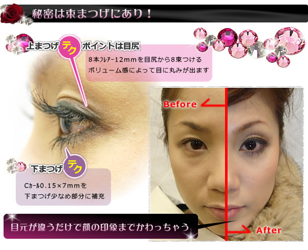 The secret is a bunch eyelash!