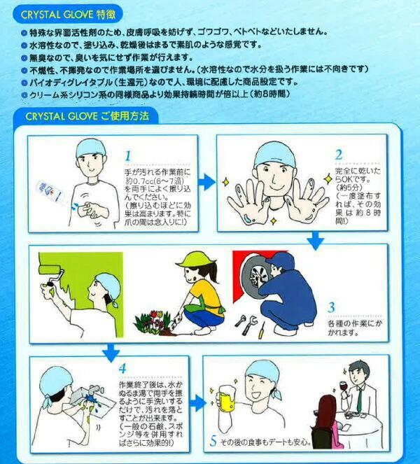 クリスタルグローブ 魔法のような手袋 透明なグローブ 作業軍手 日本一 油汚れに TFG JAPAN