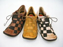 Woven rubber and Hina390 leather casual shoes