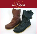 Hina 004 with back belt-crepe sole boots