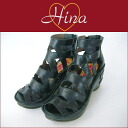 Hina Day Green 7407 multiple belt thickness ウエッジソールグラディエーター boots