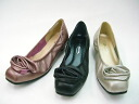 CO327 leather corsage & low heel pumps