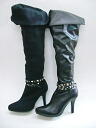 Knee high boots with a studded belt Venti Anni 42811