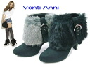 Disassembly fur booties with 52502 Venti Anni ヴェンティアンニ ☆ buckles