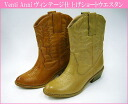 62398 Venti Anni Venti Methodand ☆ vintage finish ステッチデザインショート Western boots