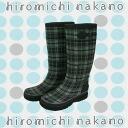 Hiromichi Nakano 0l044r check print rain boots, rain boots
