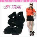 New heel Sandals I Venti 76214 ☆ b Venti Jersey fabric