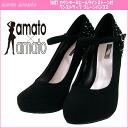 Amato amato 76027 counters & ヒールラインス tones with one strap pumps