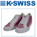 K-SWISS SPW22 Swiss pleated lame material mid cut sneaker