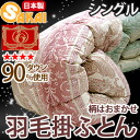 Luxury duvet quilt single white down 90% Excel gold label ( Omakase pattern ) 02P13oct13_b0200 fs3gm