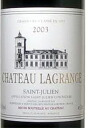750 ml of good year 2003 chateau Lagrange once in rare 100 years