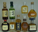 Japanese whisky taketsuru, including (Suntory and Nikka) miniaturebotrecellection 50 ml-9 piece set