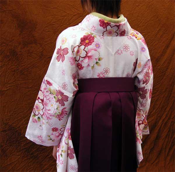 出租和服白/花纹2尺袖子