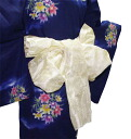 Soft organza (cream) yukata belt.