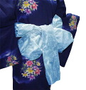 Soft organza (sky blue) yukata belt.
