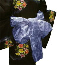 Soft organza (Navy) yukata belt.