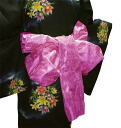 Soft organza (dark red) yukata belt.