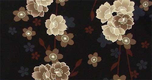 和服剪裁水洗 (袷 m);; 日本花纹男士和服; 洗你的衣服量身定做的上游