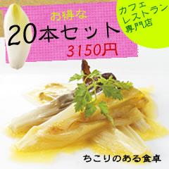 岐阜県中津川産「国産ちこり」20本入り●3,150円