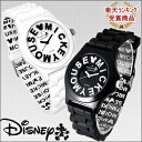 Disney / Disney ミッキーロゴ index watch-all two-color white / black fs3gm.