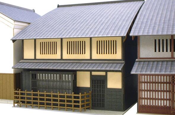 みにちゅあーとキット/町家シリーズ の京都の町家のキットです。 数棟並べるとはんなりした京都の町