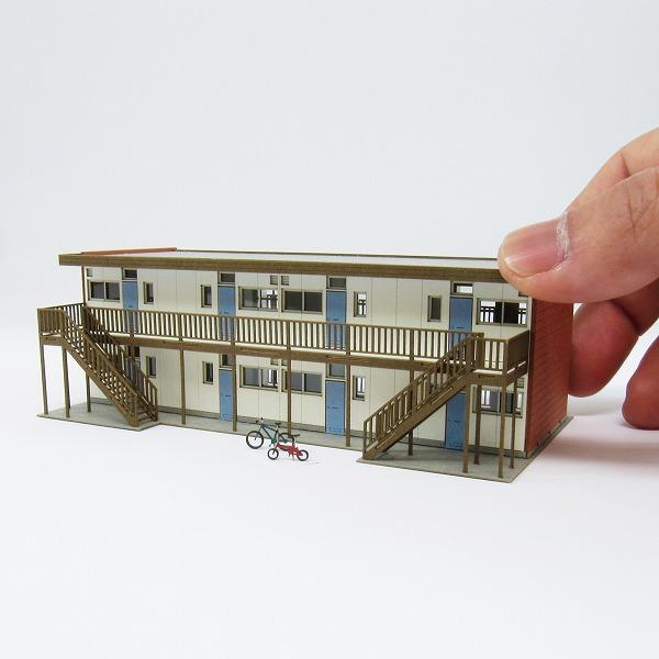 みにちゅあーとキット/なつかしのジオラマシリーズ/アパートC