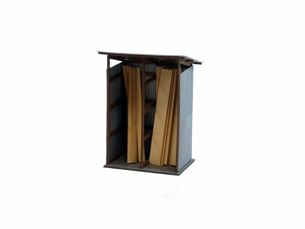 みにちゅあーとキット/ジオラマオプションキット/材木置場