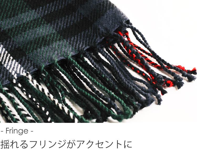 大判 ストール チェック柄 / レディース (No.08000064)