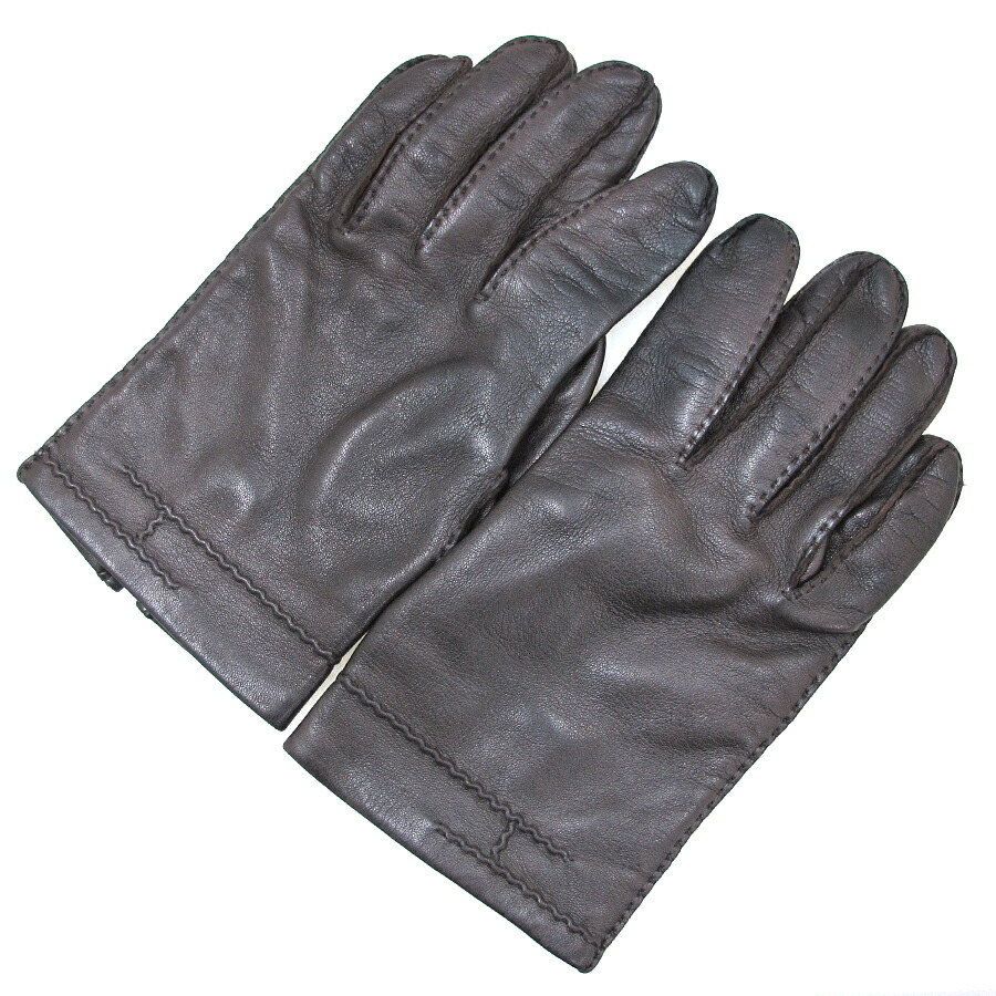 Male gloves ebay - Image Is Loading Free Shipping Pre Owned Auth Hermes Mens Gloves