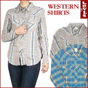 LEVI ' S/Lady's ( Levis ) CHECK WESTERN SHIRTS - check Western shirt - 32639
