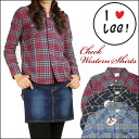 Lee (Lee) -Lady's- check western shirt / flannel shirt LT0940