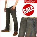 BLUEWAY (blueway ) M976 - flap pocket tight straight / distressed -