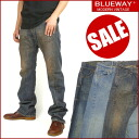 BLUEWAY (blueway ) M958 - solid trim bootcut ( flared ) / distressed -