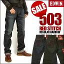 EDWIN (Edwin ) 503 BLUETRIP red steach / レギュラーナロー BTJ502