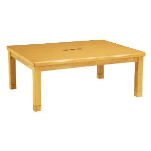 家具調コタツ 天然木 天板象嵌 105x75