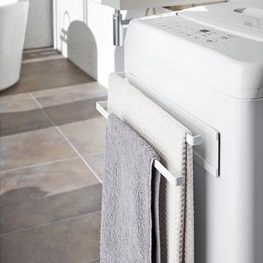 洗濯機横マグネットタオルハンガー