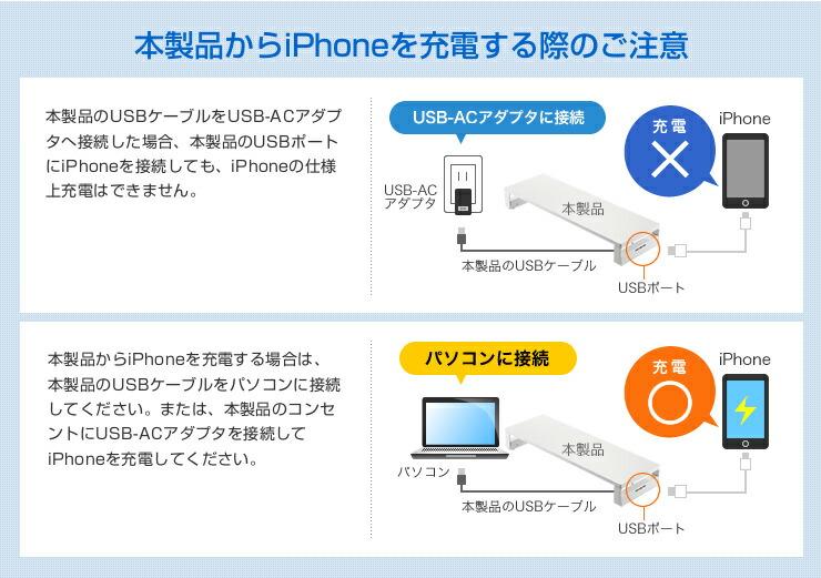iPhoneを充電する際のご注意