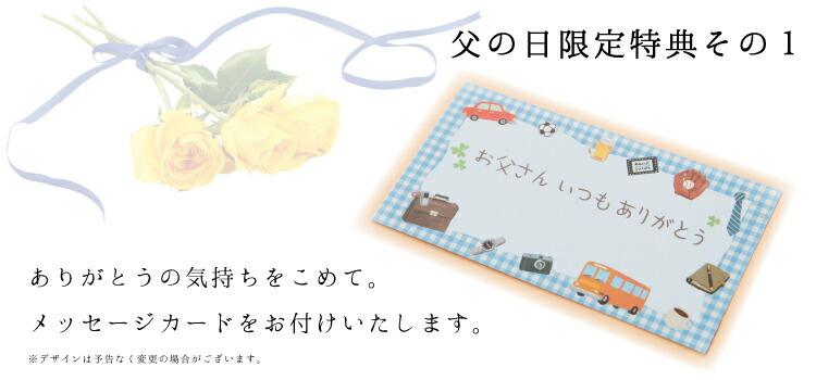 父の日のメッセージカードをお付けいたします。