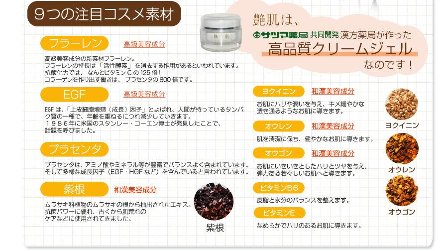 高級美容成分 フラーレンとEGF配合